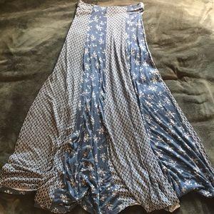 American Rag Blue Floral Boho Maxi Skirt S 🦋